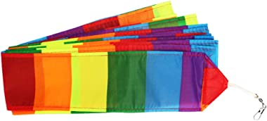 Besra 49 ft Rainbow Kite Tail 15m Long Colorful Ribbon Kite Accessories