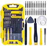 Precision Electronic Screwdriver Set R'deer 32 in 1 Magnetic Professional Repair Tools Kit with Tweezers Triangle Plectrum Sucker Crowbar and Extension Bar for iPhone MAC Xbox PS4 PC Watch Glasses