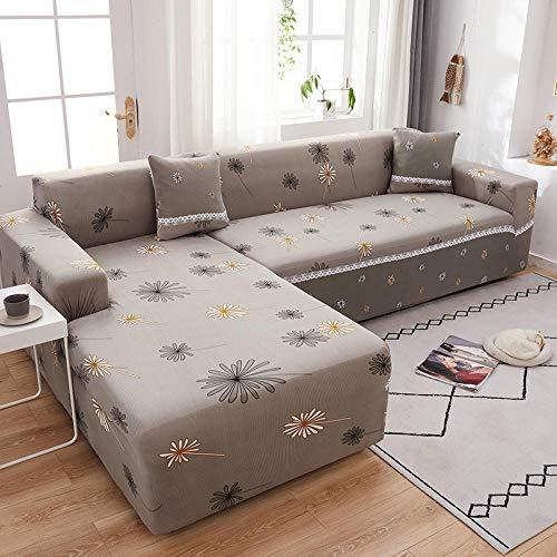 Fsogasilttlv Funda de Sofá 1 Plaza, Funda de sofá con Estampado elástico, Funda de sofá seccional elástica para Esquina, Funda para Sala de Estar en Forma de L A 90-140cm