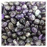 CHHNGPON Piedra Rugosa Cristal Natural Amatista Amatista Grava Espécimen ágata Rojo Lazuli Curación de Piedra Reiki para Acuario (Size : 100g)