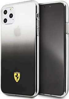CG Mobile Ferrari Pc/TPU Hard Phone Case for iPhone 11 Pro Max Gradient Dark Grey Shock Absorption Case Officially Licensed.