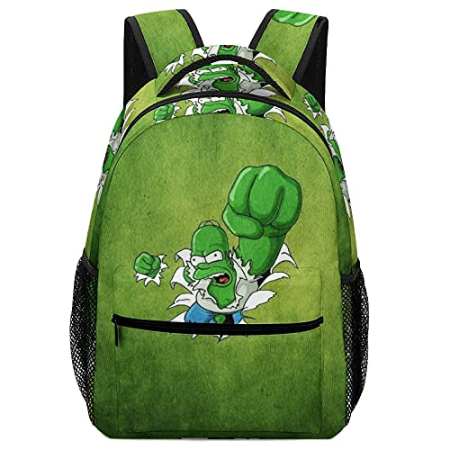Anime Simpsons Hulk Children's Schoolbags, High-Capacity Backpacks For Primary And Middle School Students Ultra-Lightweight And Multi-Compartment