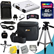 "Ultimate 20 Piece Accessory Kit for Canon Powershot ELPH 170 IS, IXUS 170, ELPH 160, IXUS 160, IXUS 165, 150 IS, IXUS 155, 140 IS, IXUS 150, ELPH 130, ELPH 340 HS, IXUS 265 HS, IXUS 145, A2500, A2600, A2300 IS, A2400 IS, A3400 IS, A3500 IS, A4000 IS, ELPH 110 HS, ELPH 115 IS, IXUS 132 HS, ELPH 130 , IXUS 140, ELPH 320 HS Digital Cameras Includes: 32GB High Speed Memory Card + 1 High Capacity NB-11L / NB11LH Lithium-ion Battery with Quick AC/DC Charger + 60"" Inch Full Size Tripod + a Water Resistant Padded Case + Universal Card Reader + Flexible Mini Table Tripod + Memory Case Wallet Holder + Screen Protectors + Deluxe Cleaning Kit + Lens Cap Keeper + Ultra Fine HeroFiber Cleaning Cloth"