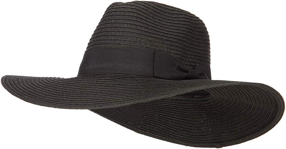 e4Hats.com Max 59% OFF Women's Paper Direct store Straw Hat Wide Brim Fedora
