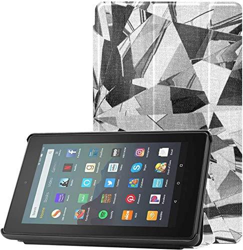 Cover Fire 7 9th Generation Estuche para niñas Estuche de Diamante Brillante Limpio para Kindle 2019 para Tableta Fire 7(9.a generación,Lanzamiento de 2019) Ligero con Reposo automático