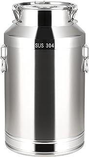 seau à lait en acier inoxydable Bucket de lait Cabine de vin - Bidon laitière en acier inoxydable avec couvercle, idéal po...