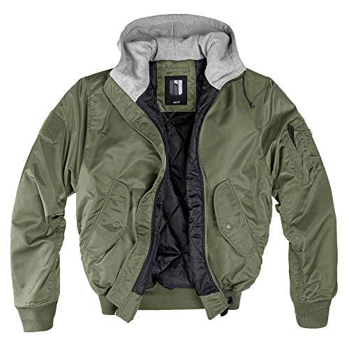 bw-online-shop MA-1 Hooded Bomberjacke oliv/grau - 4XL