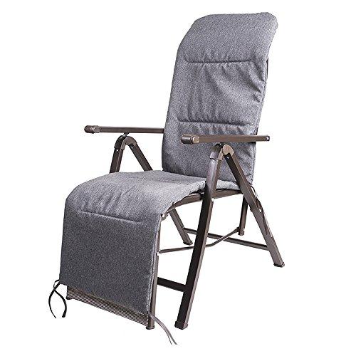 Chaises pliantes Xiaolin Haut Dossier Ergonomique Chaise de Bureau à la Maison Chaise d'ordinateur inclinable déjeuner Pause (Couleur : Dark Gray Cotton Pad)