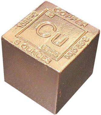"1"" 5 oz. Copper Bar Bullion Paperweight - 999 Pure Chemistry Element"