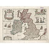 Hondius 1617 Landkarte Großbritannien, Irland, lateinische
