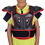 WINGOFFLY Kids Chest Spine Protector Body Armor Vest Protective Gear for Dirt Bike Motocross Snowboarding Skiing, Red M