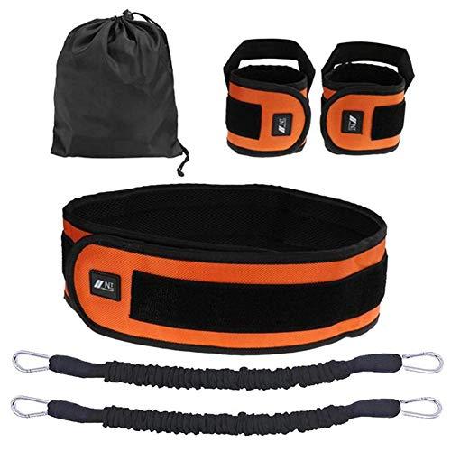 ZEH Set, Widerstand-Bänder for Arme Beine Stärke und Beweglichkeit Übungen Boxen-Bügel-Basketball-Sprung Krafttrainingsgeräte FACAI (Color : Orange)
