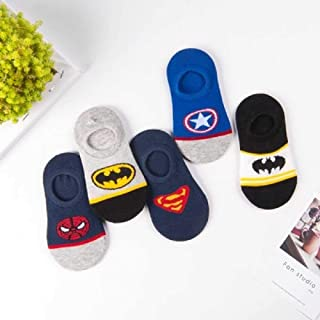 ZHANGNUO 5 Paires De Chaussettes d'hiver pour Bébés Garçons Super Hero Cartoon Marvel Superman Spiderman Batman Iron Man E...