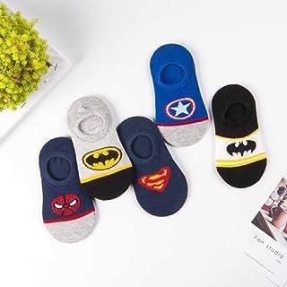 ZHANGNUO 5 Paires De Chaussettes d'hiver pour Bébés Garçons Super Hero Cartoon Marvel Superman Spiderman Batman Iron Man E...