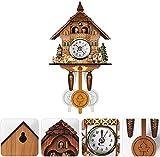 yxx Cuco Reloj, Reloj de Pared de Madera de Madera Antiguo Cuco, Reloj de Pared de Pared de péndulo decoración para el hogar cucko cuckool Reloj, Columpio automático péndulo decoración del hogar