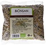 Bionsan Mix de Semillas Ecológicas de Girasol, Calabaza, Lino, Alfalfa y Sésamo - 4 bolsas de 300 g - Total: 1200gr