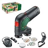 Bosch EasyCurvSander 12 - Levigatrice e lucidatrice a batteria, 1 batteria, 12 Volt, in scatola di cartone