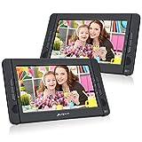 Pumpkin Lecteur DVD Portable Voiture 2 ecrans d'appuie-tête 10.1 Pouce Pour Enfants supporte USB SD...