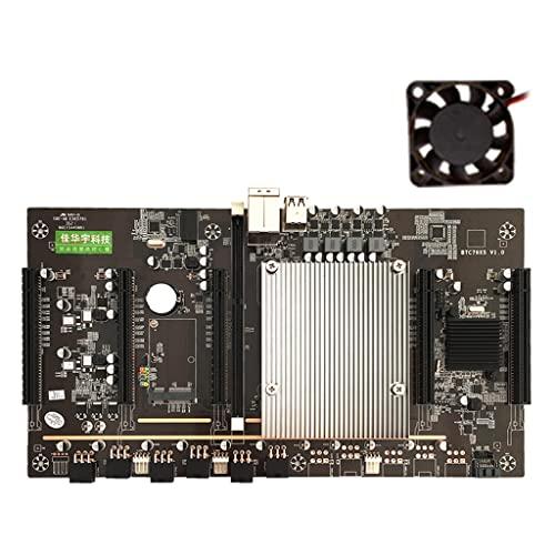 Placa base de minería Meipai con ventilador BTC X79 LGA 2011 CPU Socket PCI-E X8 Slots Support 5 X 3060 GPU DDR3 Memory Slot para Miner