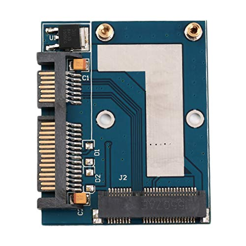 Hemore Mini PCI-E mSATA zu 6,3cm SATA Konverter Adapter Karte Modul Blau Board Büro Arbeit Computer Expansion Card