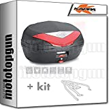 kappa maleta k466n 46 lt + portaequipaje monolock compatible con triumph bonneville t100 2020 20