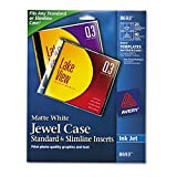 Avery CD/DVD Jewel Case Inserts for Ink Jet Printers, White, Pack of 20 (8693) - Matte White