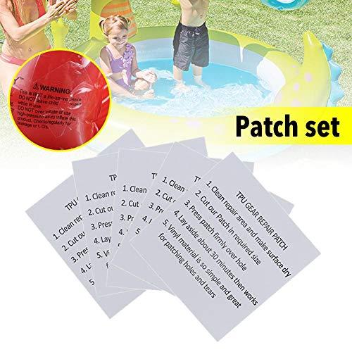 Pool Reparaturset Schwimmbad Reparatur Patch 20 Stück Set Mit Kleber Wasserdicht Langlebig Vinyl-Kunststoff Reparatursatz für Aufblasbares Schwimmbade Spielzeug