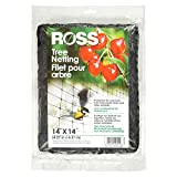 Ross 15624 UV Tree Netting Protects Fruits from Birds and Animals, 14 feet x 14 feet, Black
