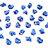 Super Z Outlet 120 Pack Acrylic Color Ice Rock Crystals Treasure Gems for Table Scatters, Home Vase Fillers, Event, Wedding, Arts & Crafts, Birthday Decoration Favor (1' Inch) (Royal Blue)
