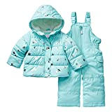 Carter's Girls' Toddler Heavyweight 2-Piece Skisuit Snowsuit, Stars on Turquoise, 3T