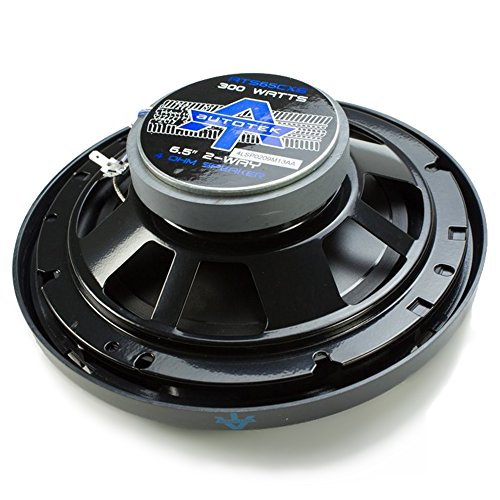 Autotek ATS65CXS 6.5 Inch Coaxial Car Speakers (Black and Blue, Pair) - 300 Watt Max, 2 Way, Voice Coil, Neo-Mylar Soft Dome Tweeter, Pair of 2 Car Speakers