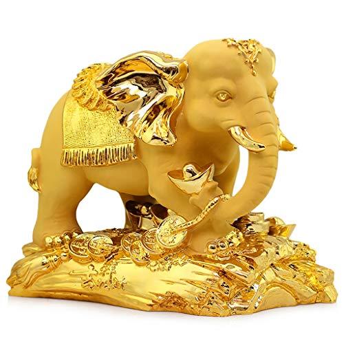 Feng Shui Estatuas Suerte elefante Decoración Regalo de la apertura de la decoración artesanal de regalo-Decoración de Suerte y Riqueza perfecto for su oficina en casa estatuas O Feng Shui Riqueza Est
