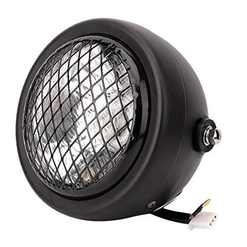Broco 12 V motorfiets retro mesh beschermrooster koplamp voor Chopper Bobber zwart