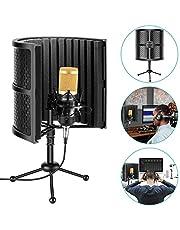 Neewer 卓上型コンパクトマイク絶縁シールド 吸収フォーム、コンデンサーマイク、ショックマウント、三脚スタンド、オーディオケーブル付き スタジオ録音、ポッドキャスト、歌い、放送などに適用