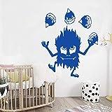 Dessin animé feu garçon Mignon Vinyle Autocollant Mural pour Chambre d'enfants décor à la Maison Art décalque Papier Peint décoration 58 cm x 70 cm