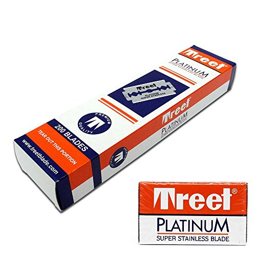 Treet 200 Hojas de Doble Filo Platinum, Único, Estándar
