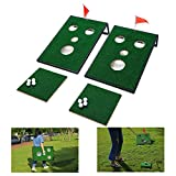 OOFIT Golf Cornhole Game Set, Golf Chipping Game Cornhole Set Indoor/Outdoor Golf Chip Yard Game for Tailgate, Party, Office, Backyard