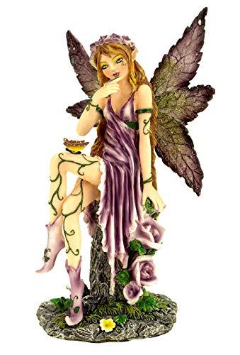 Vogler Fee Violetta lila Kleid Schmetterling 20 cm Figur Fantasy Fairy Elfe