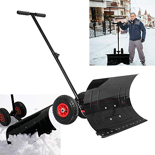 Cheapest Price! LTLSF Snow Shovel with Wheels, Versatile Adjustable Angle and Height Snow Shovel Win...