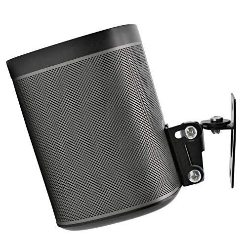 Soundbass Sonos Play 1 vägghållare, (inte kompatibel med Sonos One), justerbar rotations- och lutningsmekanism, enkelhållare för spel: 1 högtalare med monteringstillbehör, svart