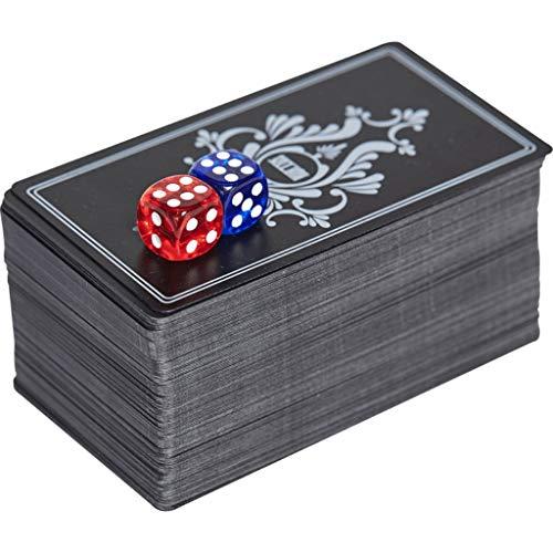 DUOER home-Mahjongg Creative Mah-Jong-Spielkarten Wasserdichtes PVC-Kartenspiel aus Kunststoff mit schwarzer Unterlage im Karton für Cardistry