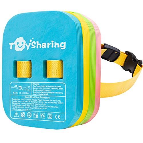 Toysharing Back Float Safety Swim Trainer Swimming Bubble Belt with Adjustable Split Layers Swim Bubbles Belts Secure Clip Buckle Progressive Swim Floaties for Kids Toddler Children Sport Pool Lesson