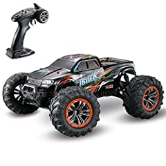✅【1:10 Large Scale Size & 4 Wheels Drive 】--- The 1:10 Scale big size and full proportional super-fast RC monster truck, the RC Cars four wheels consist of bouncing spring materials which give support to unexpected dropping and the unstable surface o...