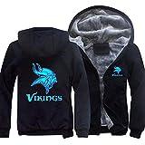 Sweat À Capuche NFL Minnesota Vikings Jersey Pull Plus Velvet Rugby T-Shirt À Manches Longues Imprimer Capuche Décontracté Et Confortable Gros Pull,A,6XL