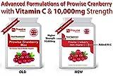 Cranberry Double Strength 10,000mg 90 tabletas con vitamina C añadida - Suplemento diario de alta resistencia - Reino Unido Fabricado con GMP Calidad garantizada - Adecuado para vegetarianos y veganos
