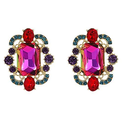 Arete Pendientes Colgantes De Diamantes De Imitación Multicolor Arcoíris De Moda Para Pendientes De 3 Colores Góticos Étnicos Femeninos