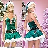 Hcxbb-11 Traje De La Navidad - Vestido Traje De Halloween- Tentación Uniforme De Metro Green Top Navidad Vestido De Princesa Juego De Adultos Wear (Color : Green, Size : One Size)