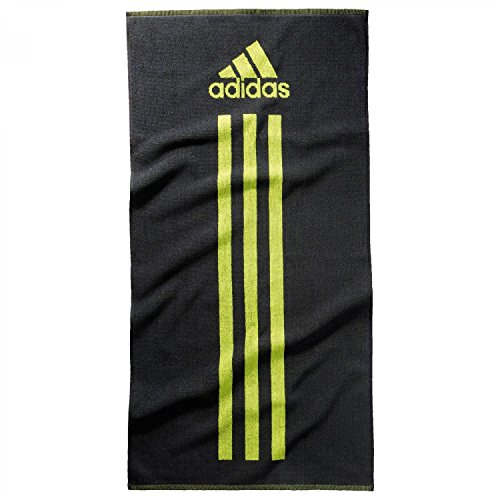 adidas Handtuch Towel S, Dark Grey/Semi Solar Yellow, One size