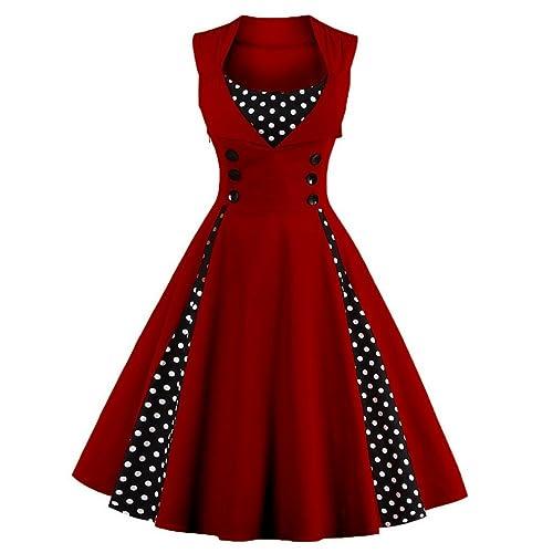 39325be909ee LeaLac Women s Fashion Cotton Summer High Waist Scoop Neck Short Sleeeve  Plus Size Swing Dress
