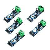 HiLetgo 5pcs LM386 Mono Audio Amplifier Module 200 Times AMP Solo 5V-12V 10K Adjustable